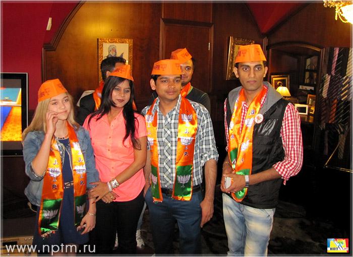 НПТМ на праздновании победы в выборах нового премьер-министра Индии Шри Нарендра Моди.